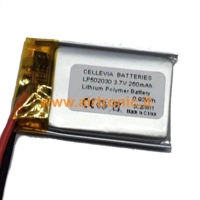 Batteria Li-Po 3,7V 250mA - 1