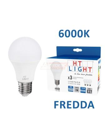 3 LAMPADE CLASSICHE LED 11W...