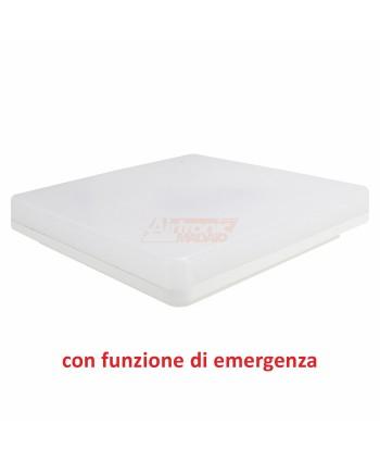 Plafoniera 24W quadrata con funzione emergenza - 1